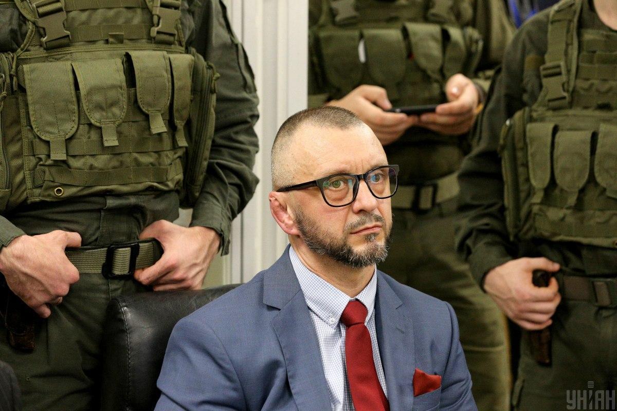 Donbas war volunteer and musician AKA 'Riffmaster' Andrii Antonenko on trial / Photo from UNIAN, by Viktor Kovalchuk