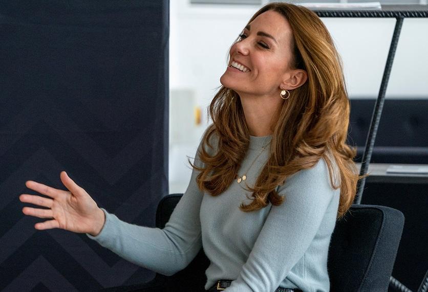 На встречу 38-летняя герцогиня Кембриджская прибыла в красивом аутфите \ фото REUTERS