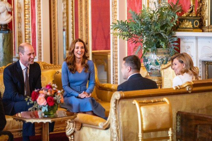 Герцоги Кембриджские встретились с президентом Зеленским и первой леди / Фото twitter.com/KensingtonRoyal