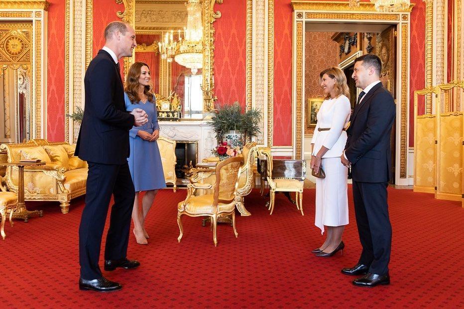 Герцоги Кембриджские встретились с президентом Зеленским и первой леди / Фото instagram.com/olenazelenska_official/