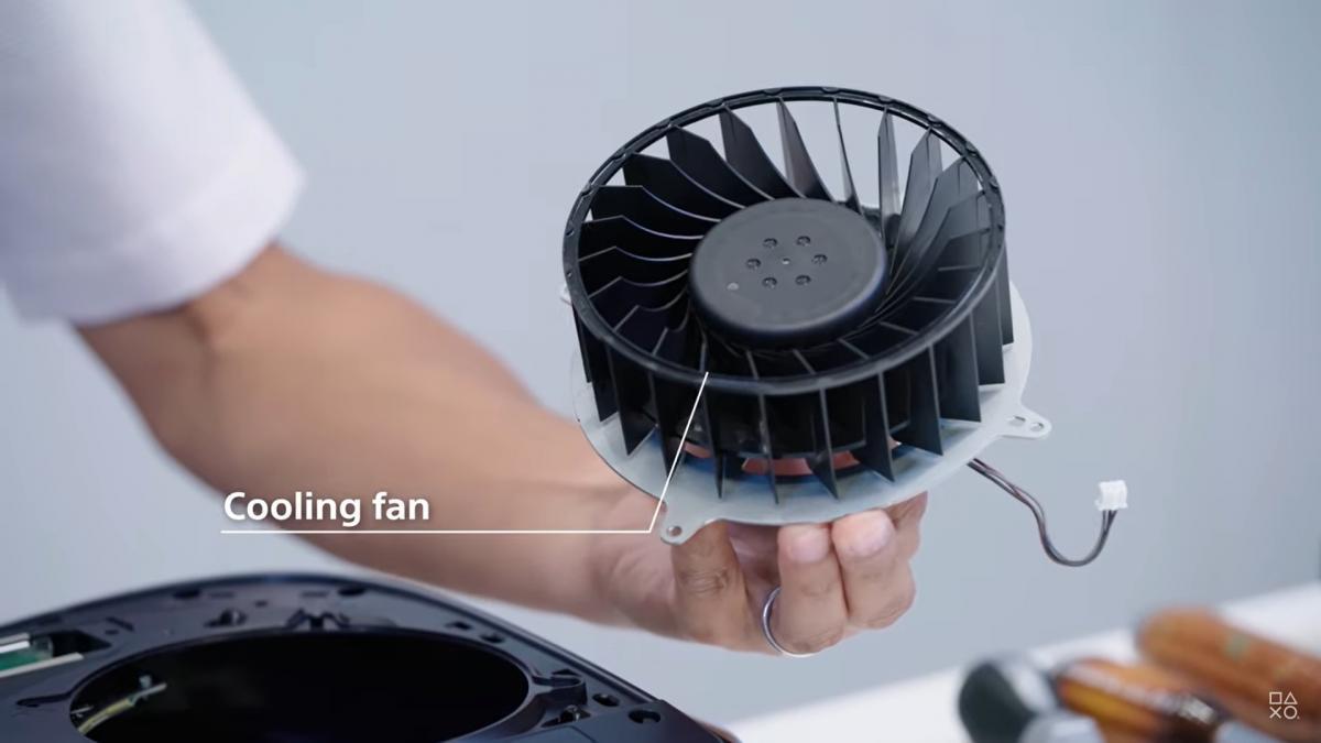 Вентилятор системи охолодження PS5 / скріншот