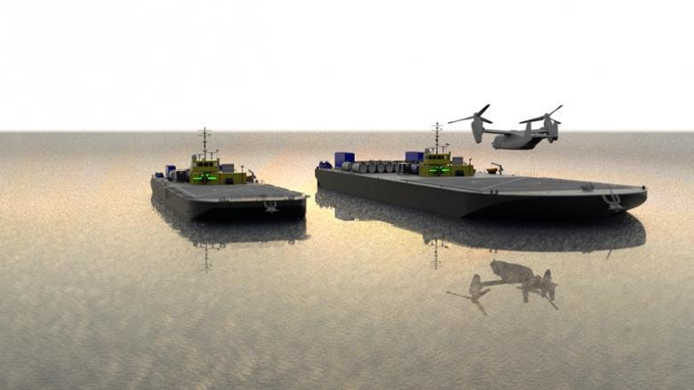 Концепцию автономных морских баржпредставят в конце 2020 года / фото flightglobal.com