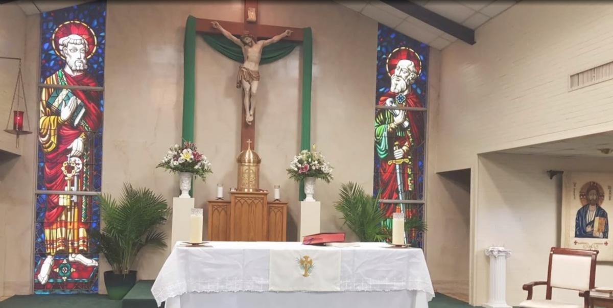 Инцидент произошел в церкви святых Петра и Павла / cкриншот из видео