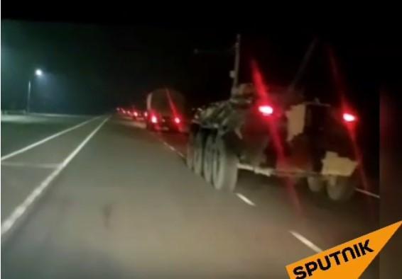 Часть военной техники уже находится в столице Кыргызстана/ скриншот из видео