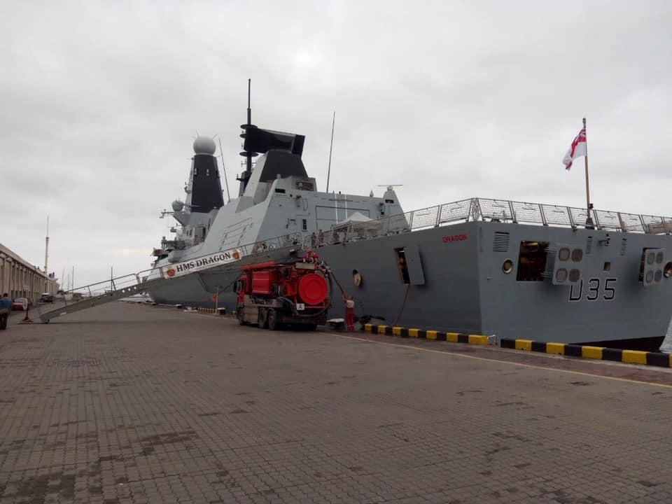 UK's Royal Navy destroyer HMS Dragon / Photo from Ukrainian Army's Special Forces Command