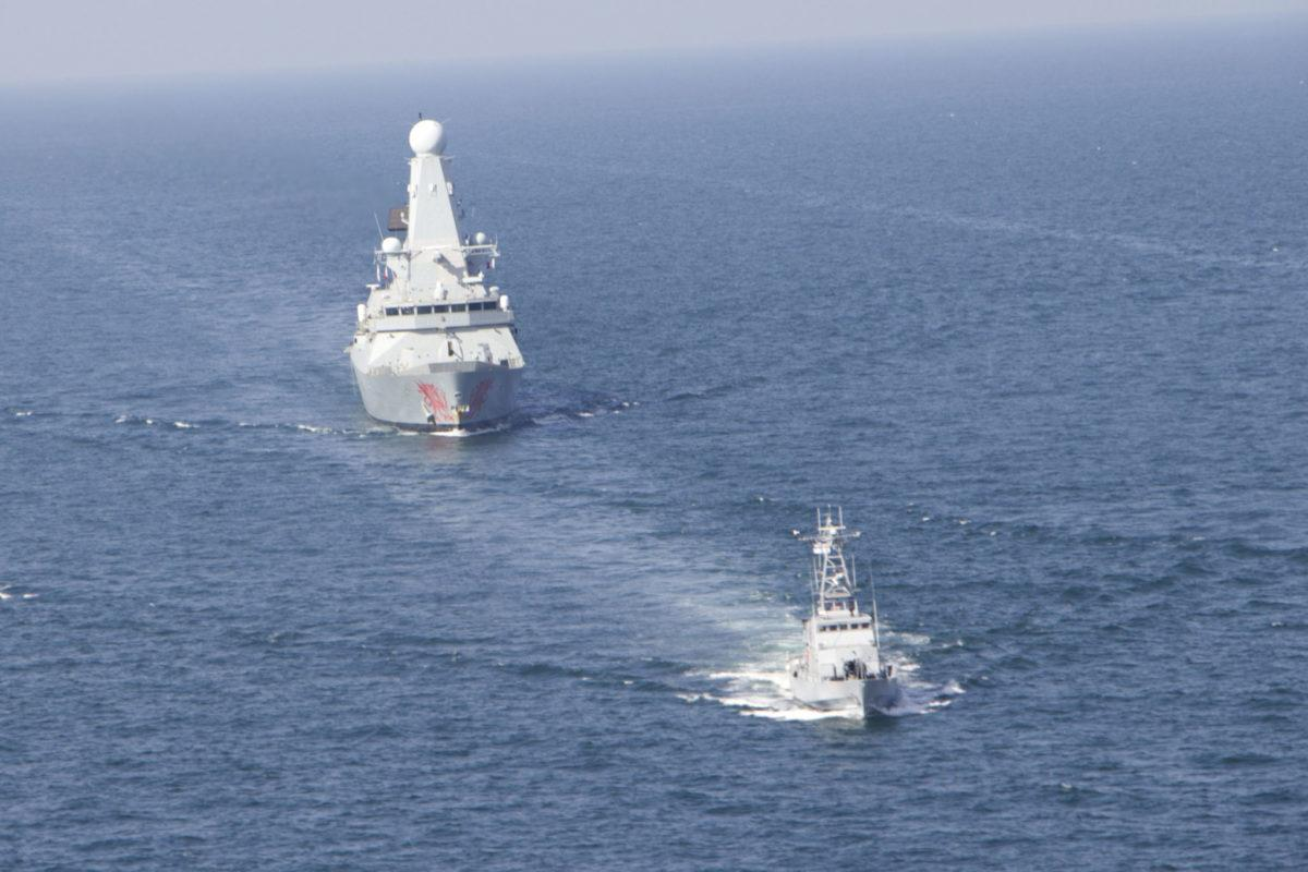 До Одеського морського порту з дружнім візитом прибув есмінець Королівських ВМС Великої Британії / фото АрміяInform