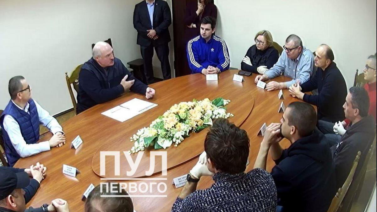 """На встречу с Лукашенко собрали не менее 12 арестованных оппозиционеров / фото """"Пул Первого"""""""