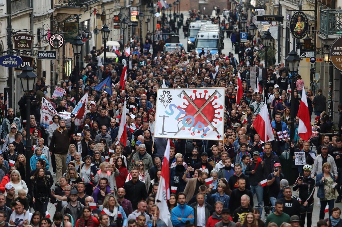 Акция протеста против карантина в Польше / фото REUTERS