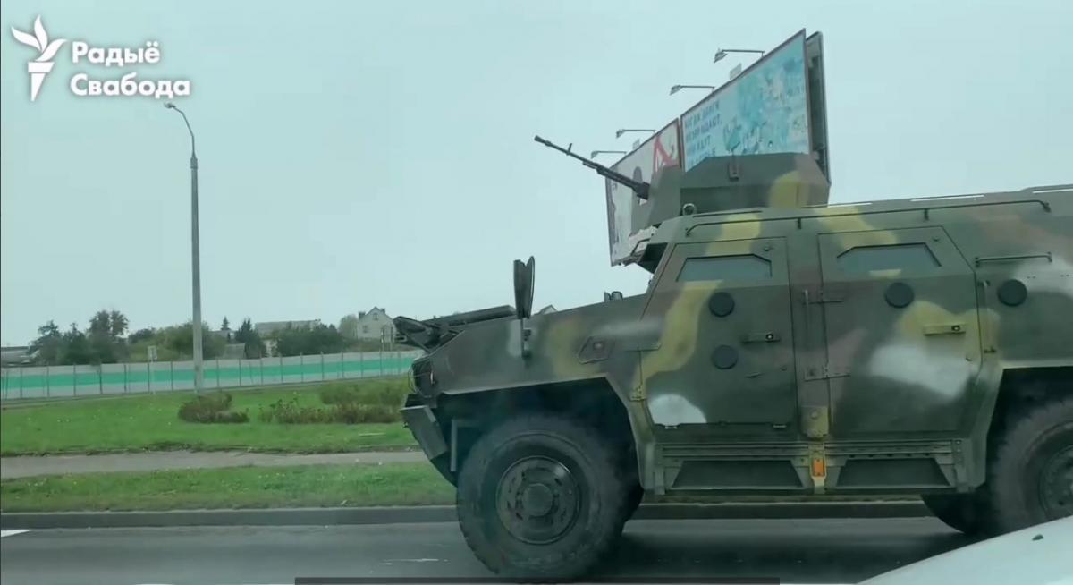В одном из районов были замечены бронемашины с пулеметами/ скриншот из видео