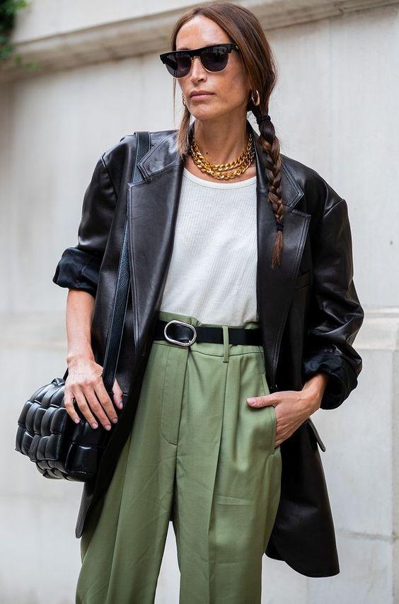 Кожаные куртки 2020 / фото pinterest.com