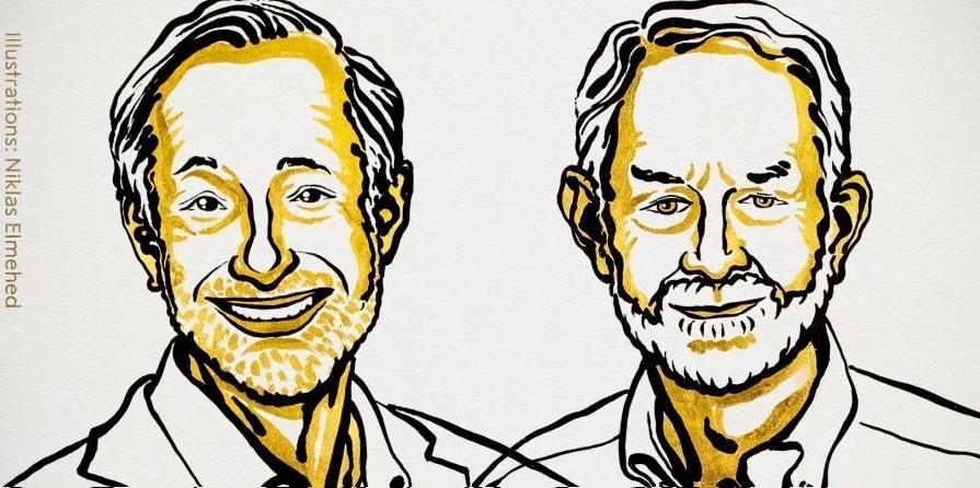 Лауреати Шведського нацбанку зекономічних наук Пол Мілгром та Роберт Вілсон / фото nobelprize.org
