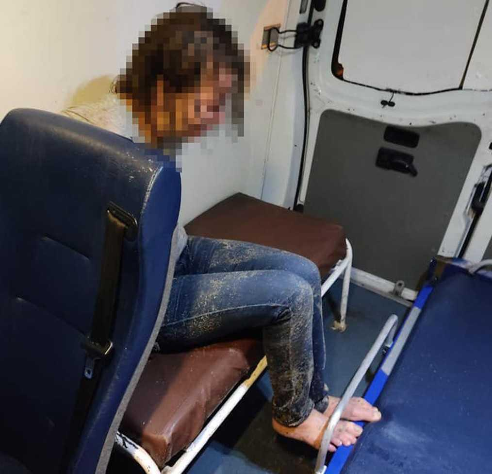 Женщину госпитализировали / фото Управление патрульной полиции в Одесской области