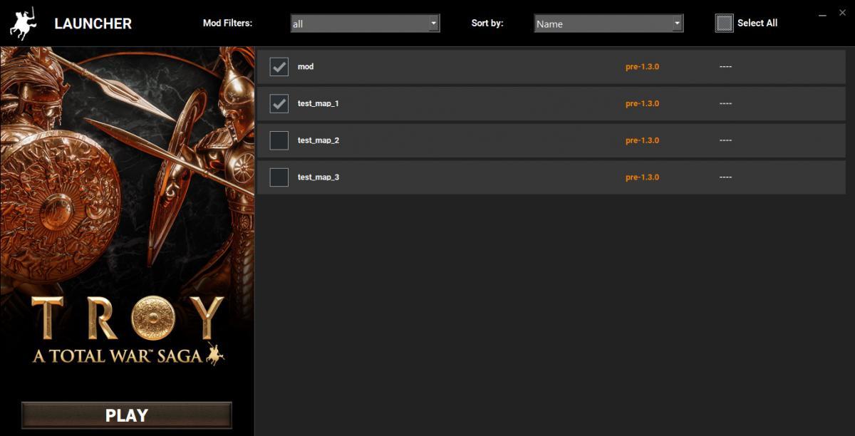 Отфильтровать моды можно в лаунчере самой игры /фото totalwar.com