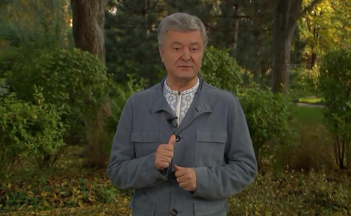 Poroshenko recovered from coronavirus / Snap from video