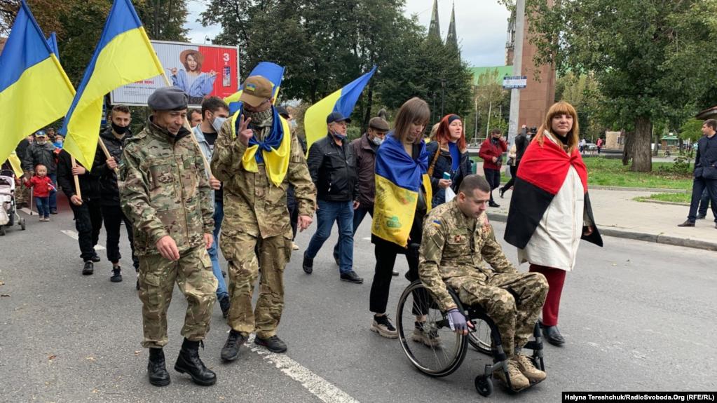 Во Львове 14 октября провели марш в честь защитников Украины / фото radiosvoboda.org
