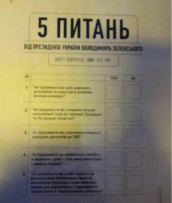 """Таким може бути """"бюлетень"""" / фото """"Обозреватель"""""""