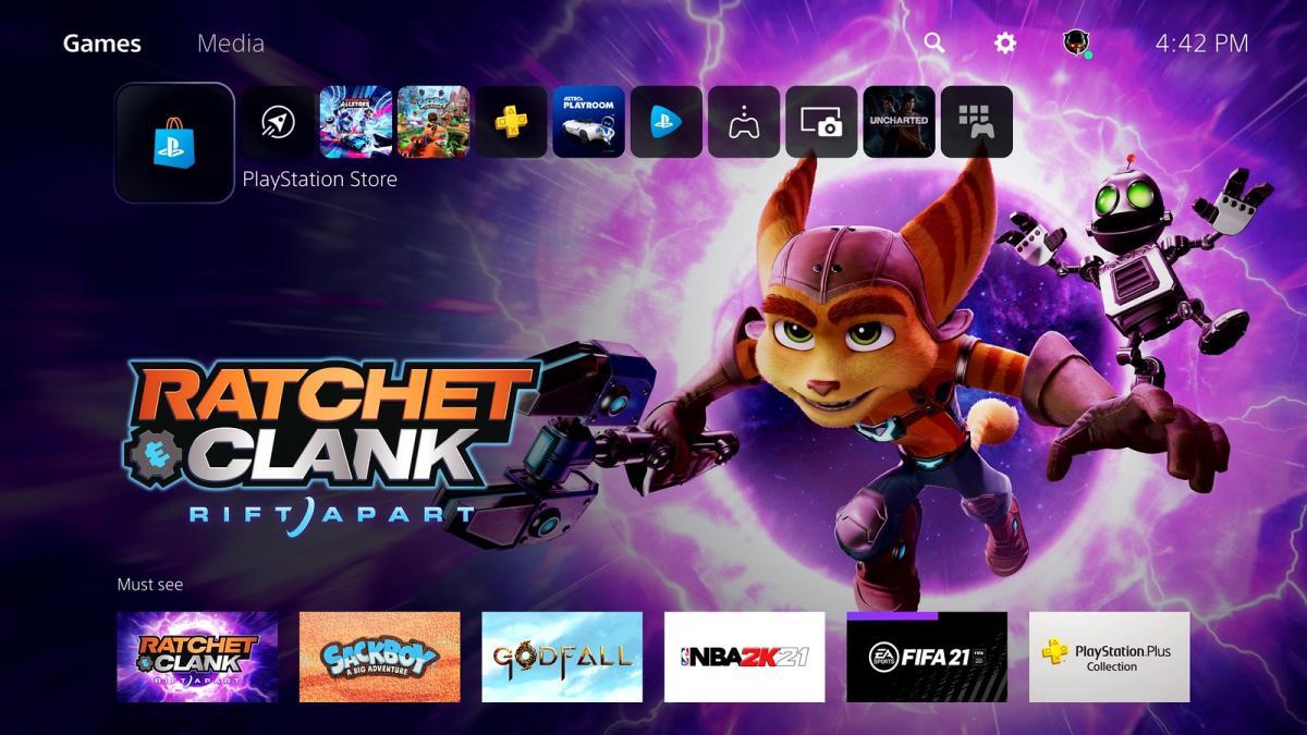 Так выглядит меню PlayStation 5 / фото blog.playstation.com