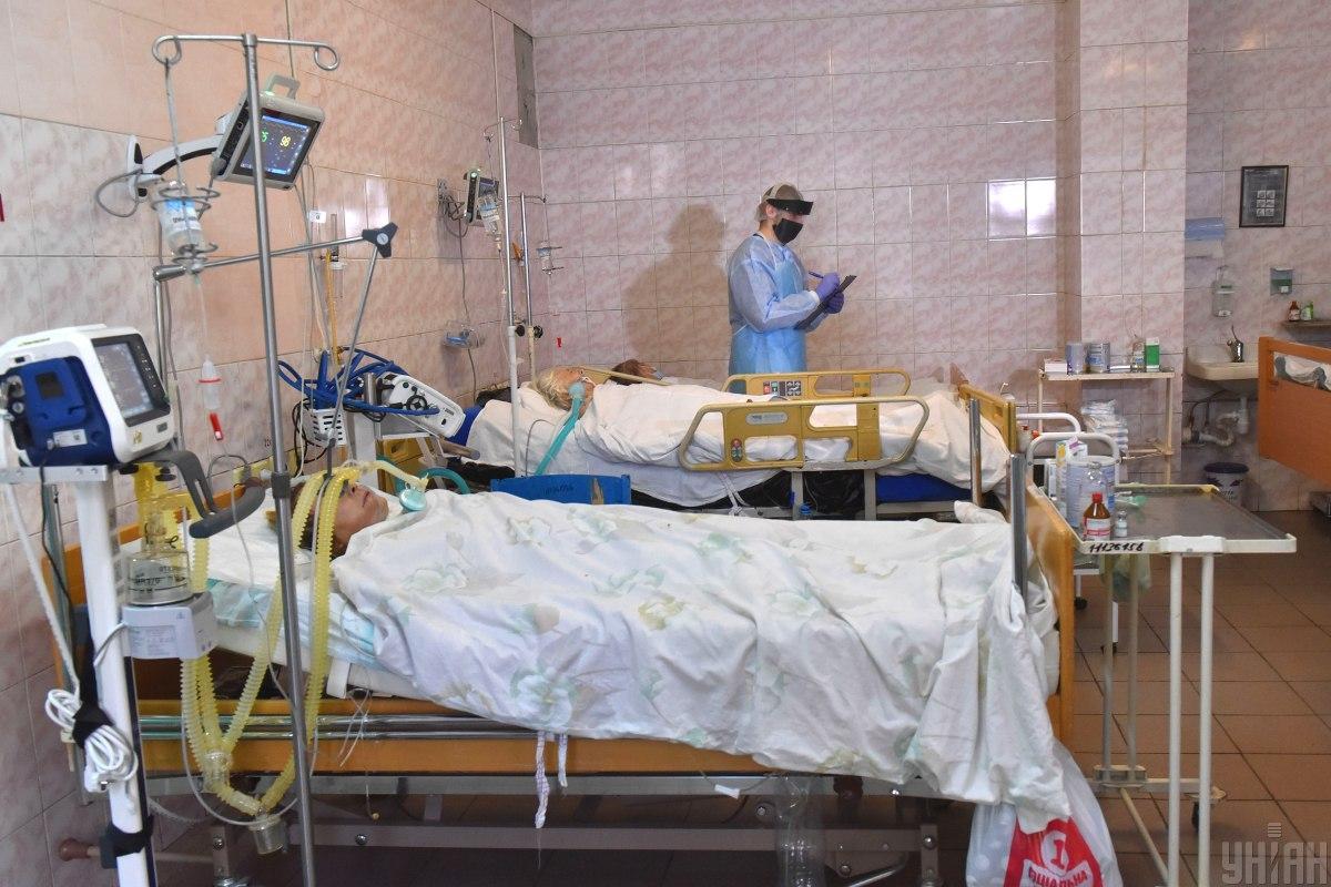 У лікарнях Житомирщини вже зайняті майже 99% ліжок першої хвилі для хворих на COVID-19/ фото УНІАН, Олександр Прилепа