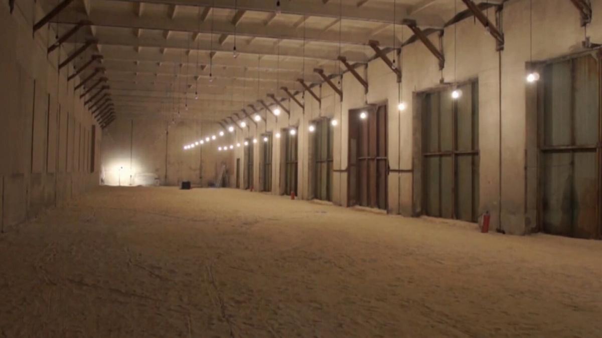 Prison hallways in Isolation