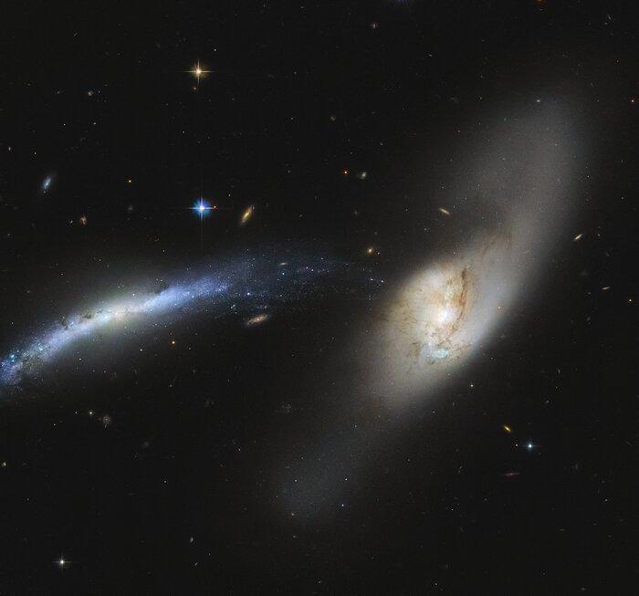Галактический смерч / фото ESA/Hubble & NASA, SDSS, J. Dalcanton