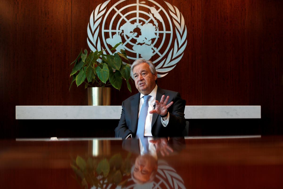 Гутерреш: пандемия COVID-19 стала главным глобальным вызовом / фото REUTERS