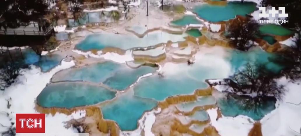 На Голубых озерах пошел снег / скриншот