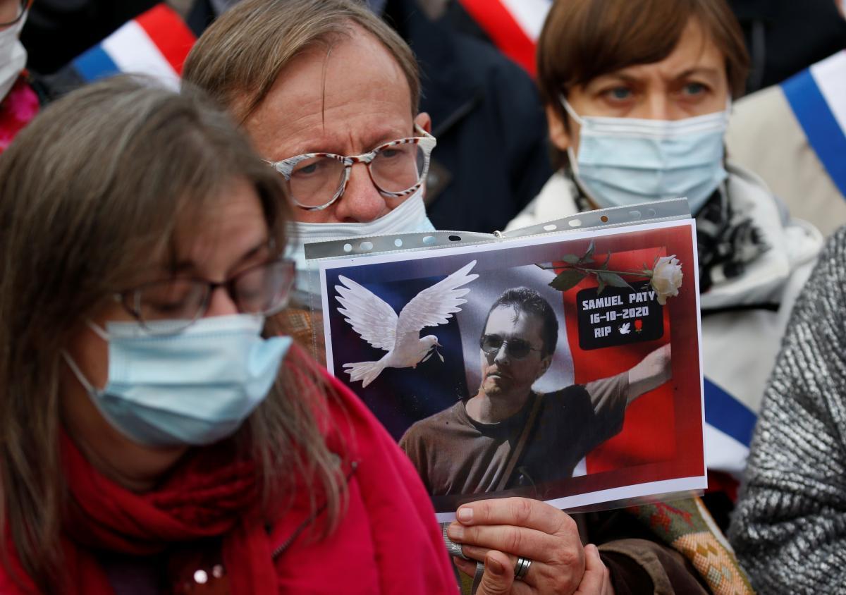 Учитель истории Самуэль Пати был обезглавлен 18-летним чеченцем / фото REUTERS