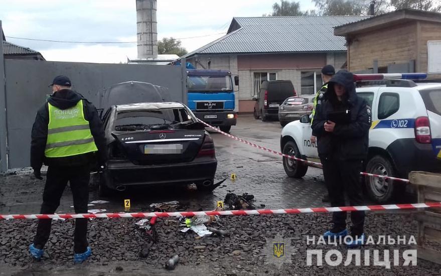 Інцидент стався на вулиці Грінченка у Дрогобичі/ фото поліція