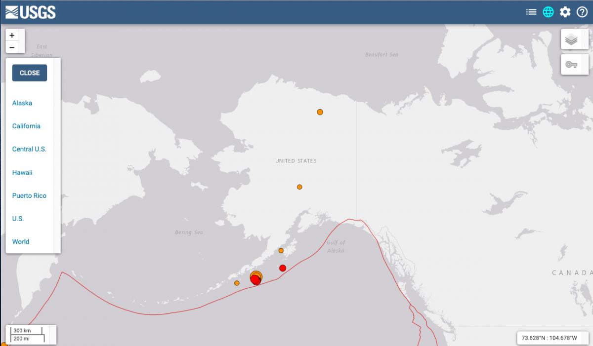 Сейсмологи попередили про загрозу цунамі / фото earthquake.usgs.gov