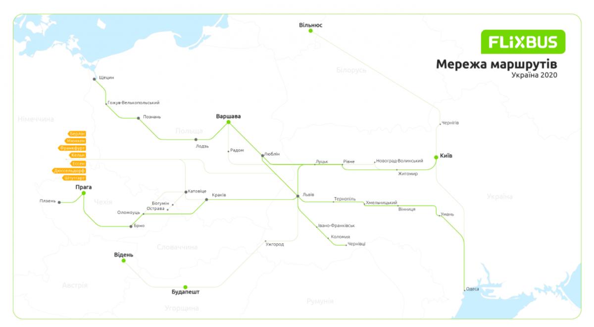 Карта Flixbus