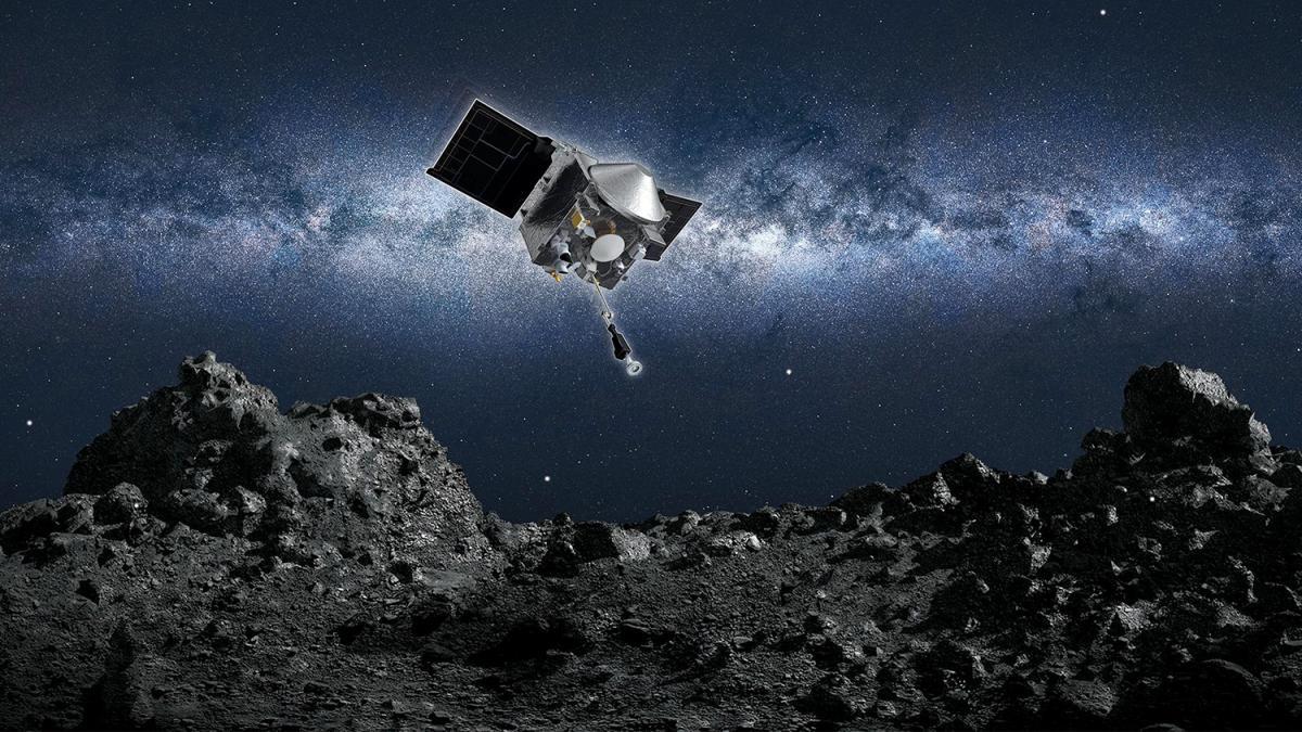 Зонд NASA произвел забор грунта с астероида Бенну/ фото NASA