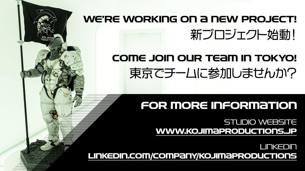 Kojima Productions шукає нових співробітників / фото twitter.com/KojiPro2015