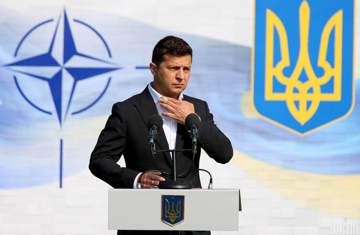 Зеленский заявил, что Украина хочет быть равноправным членом НАТО / фото УНИАН, Евгений Кравс