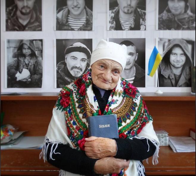 Самой пожилой волонтерке Украины было почти 90 лет / фото Марта Туманова, Facebook