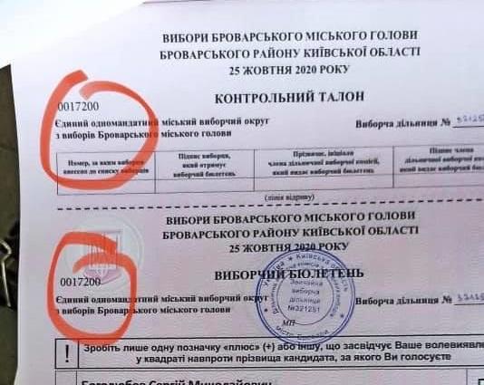 Поліція розслідує порушення таємності голосування у Броварах через номери на бюлетенях