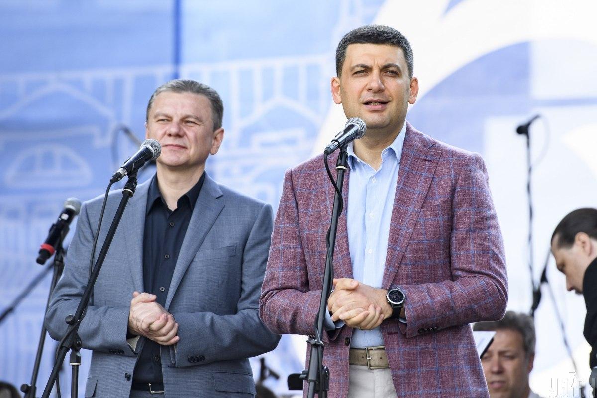 Сергій Моргунов і Володимир Гройсман / фото УНІАН, Владислав Мусієнко