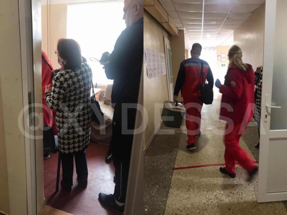 """В Одессе госпитализировали одного из членов комиссии / фото телеграмм-канал """" ХО"""""""