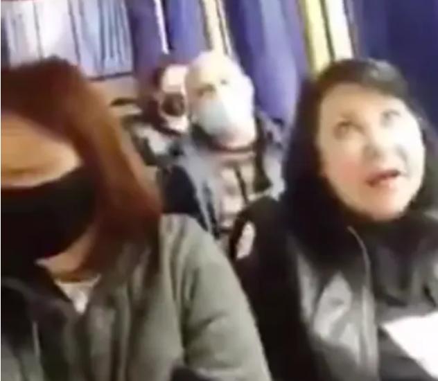 Пасажирам не сподобалася українська мова однієї з жінок \ скріншот з відео