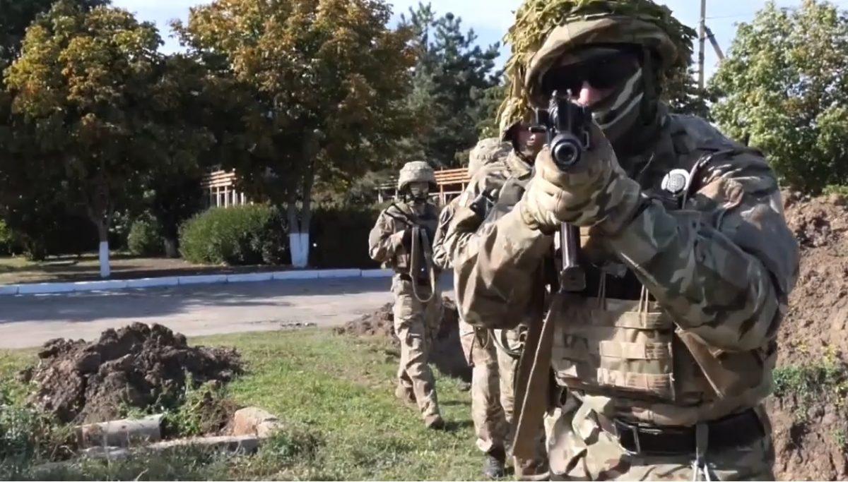 Тренировка военных на Херсонщине / скриншот