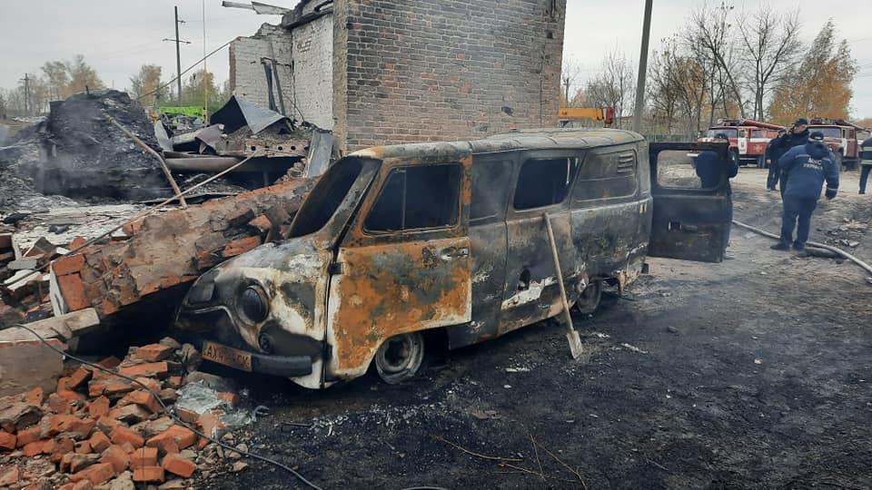Взрыв на газораспределительной станции на Харьковщине произошел 28 октября / фото ГСЧС
