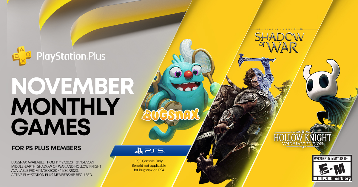 Подборка игрдля PS Plus в ноябре 2020 года / фото twitter.com/PlayStation