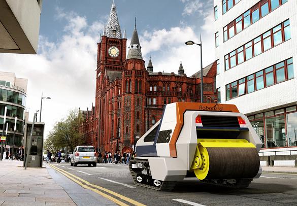 Британцы строят робота, который будет чинить дороги / iverpool.ac.uk