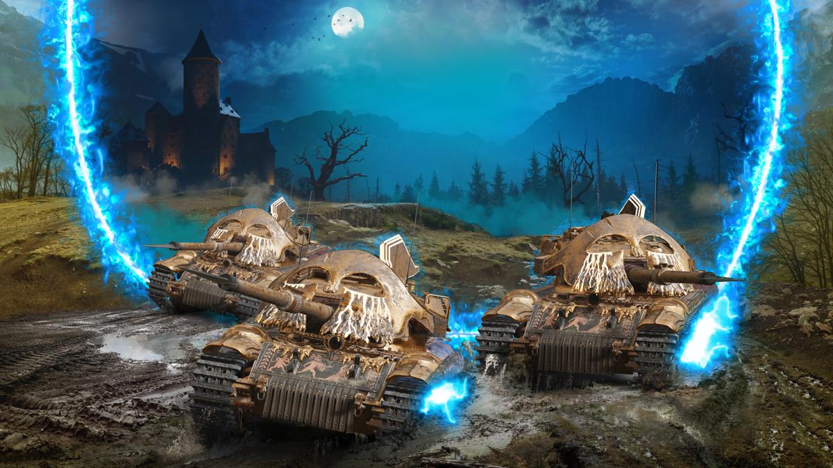 Танки-монстри в хелловінському режимі консольної версії World of Tanks / фото wargaming.net