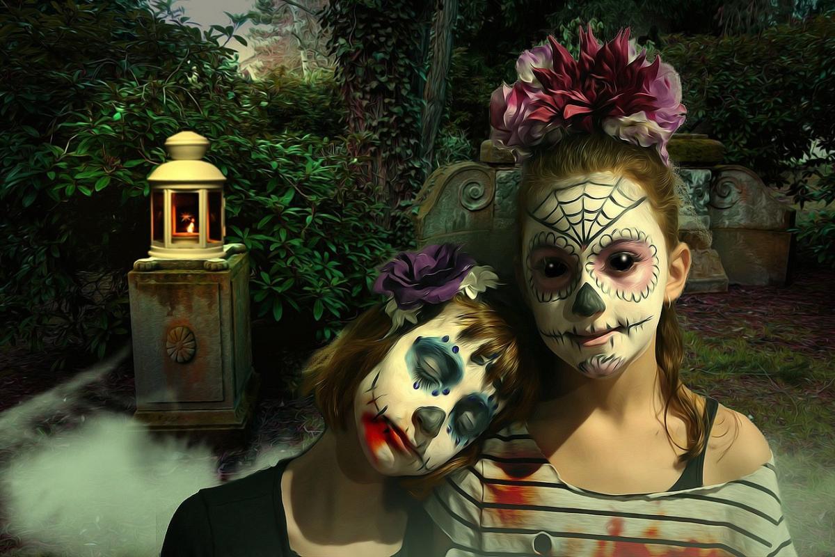 Макияж на Хэллоуин 2020/ фото pixabay.com