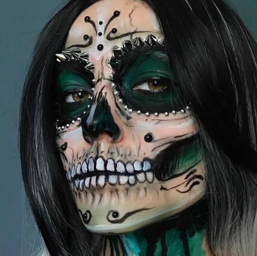 Макияж черепа на Хэллоуин / embergrim