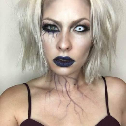Макияж зомби на Хэллоуин / jamadvice.com.ua