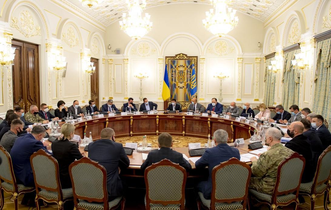 Зеленський скликав термінове закрите засідання РНБО через рішення КСУ/ фото Офіс президента