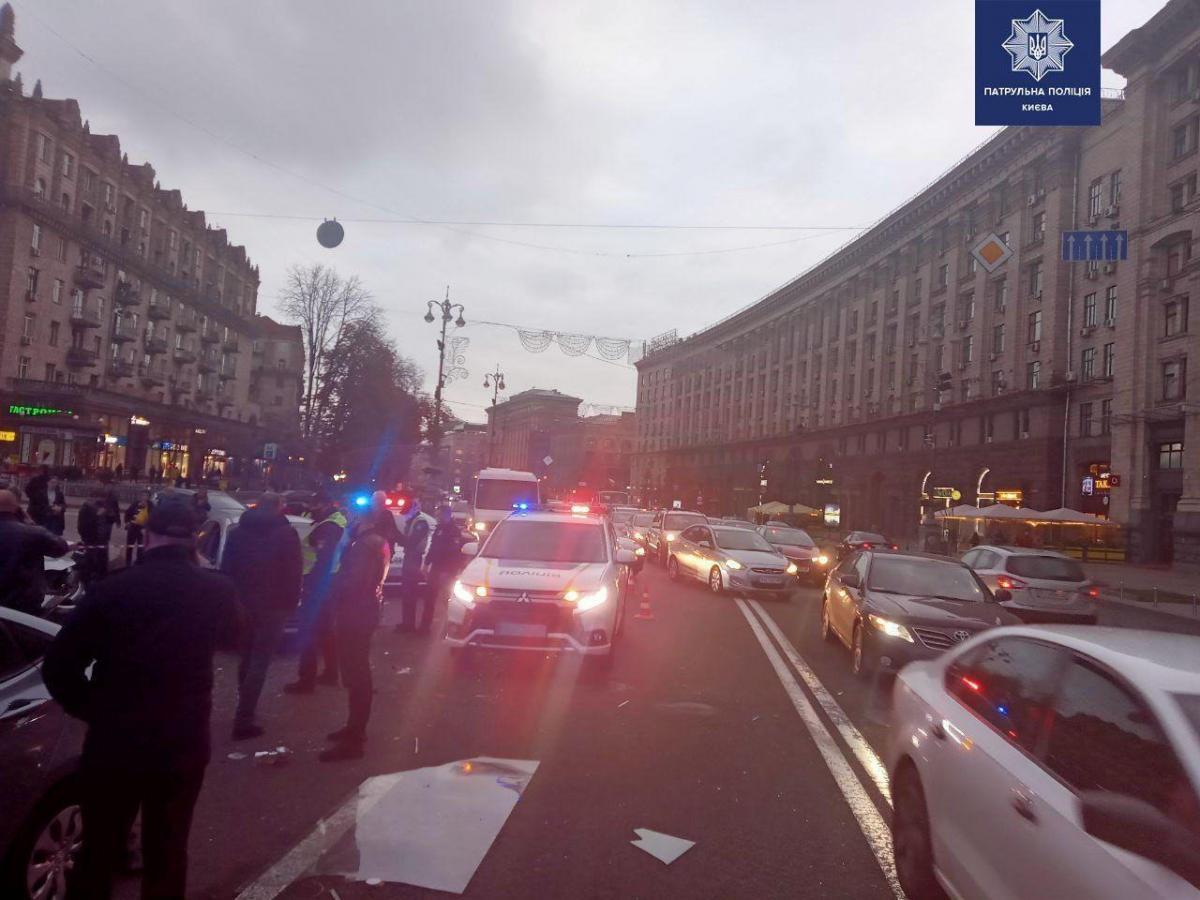 На Майдані сталася смертельна ДТП/ фото kyiv.npu.gov.ua