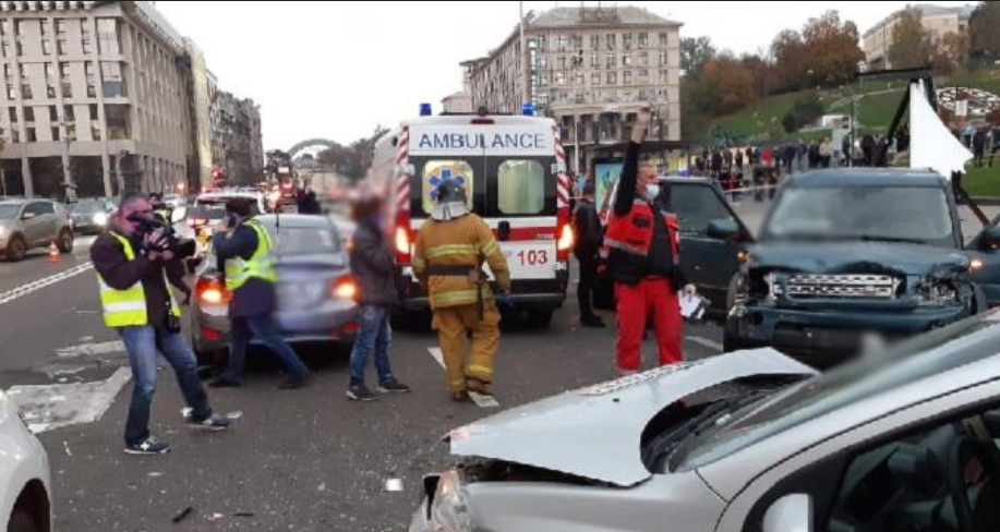The car accident on the Maidan / Photo from kyiv.npu.gov.ua