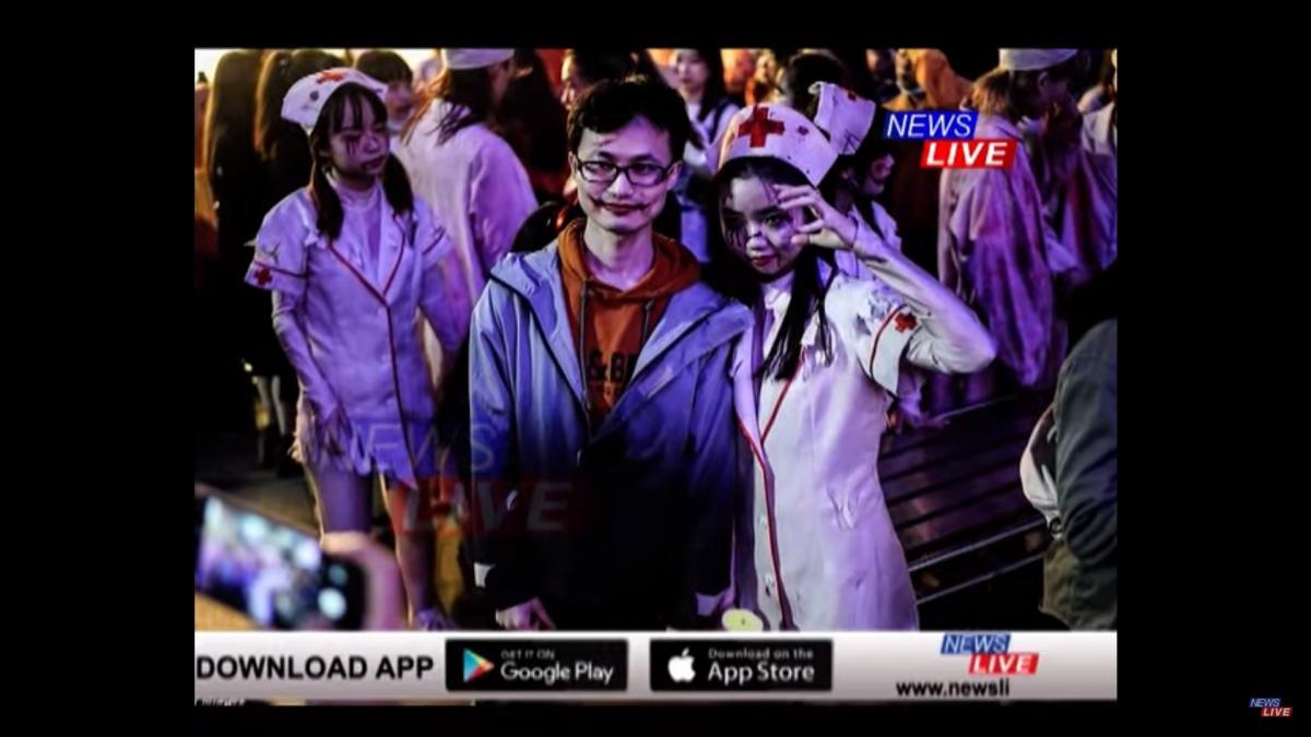 Больше всего на параде было медсестер-зомби/ скриншот из видео